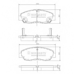 NIPPARTS J3604030 Комплект тормозных колодок