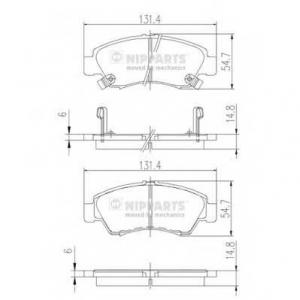 NIPPARTS J3604034 Комплект тормозных колодок