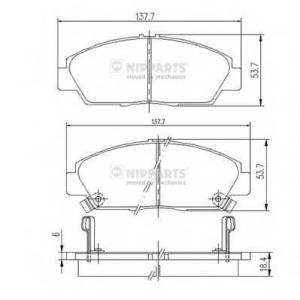Комплект тормозных колодок, дисковый тормоз j3604037 nipparts - HONDA PRELUDE IV (BB) купе 2.0 i 16V (BB3)