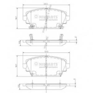 NIPPARTS J3604047 Комплект тормозных колодок