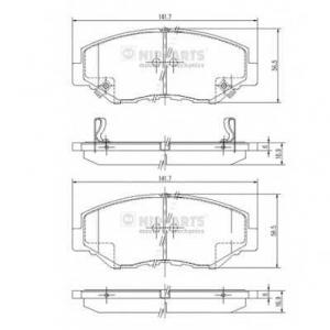 NIPPARTS J3604061 Комплект тормозных колодок