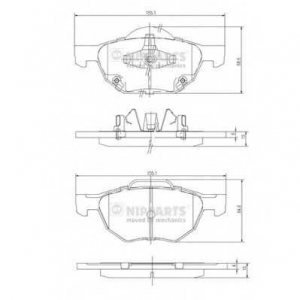 NIPPARTS J3604064 Комплект тормозных колодок