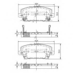 NIPPARTS J3604065 Комплект тормозных колодок