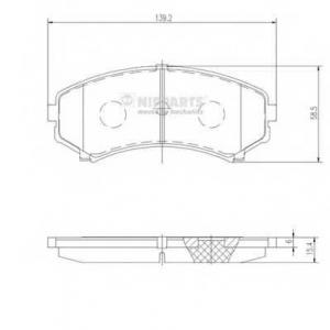 NIPPARTS J3605039 Комплект тормозных колодок