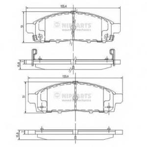 NIPPARTS J3605050 Комплект тормозных колодок