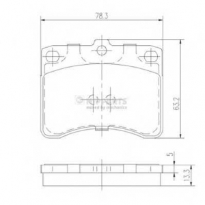 NIPPARTS J3606005 Комплект тормозных колодок, дисковый тормоз Дайхатсу