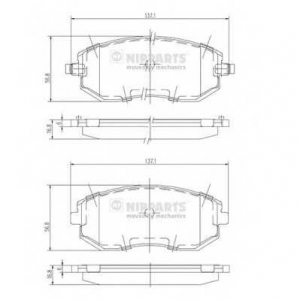 NIPPARTS J3607015 Комплект тормозных колодок