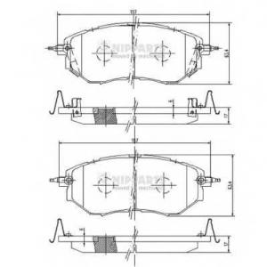 NIPPARTS J3607019 Комплект тормозных колодок