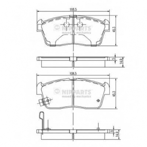 NIPPARTS J3608021 Комплект тормозных колодок