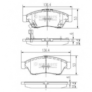 NIPPARTS J3608024 Комплект тормозных колодок