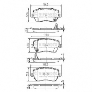 NIPPARTS J3608026 Комплект тормозных колодок