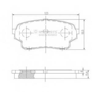 NIPPARTS J3608027 Комплект тормозных колодок