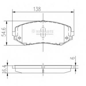 NIPPARTS J3608029 Комплект тормозных колодок