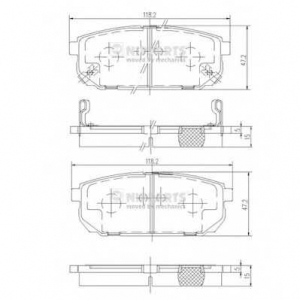 NIPPARTS J3610305 Комплект тормозных колодок