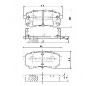 NIPPARTS J3610307 Комплект тормозных колодок