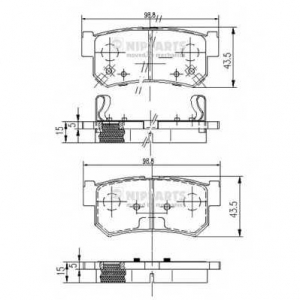 NIPPARTS J3610401 Комплект тормозных колодок