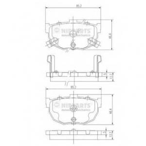 NIPPARTS J3610505 Комплект тормозных колодок, дисковый тормоз Инфинити М-30
