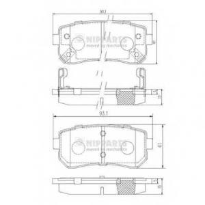 NIPPARTS J3610512 Комплект тормозных колодок