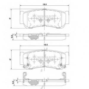 NIPPARTS J3610517 Комплект тормозных колодок