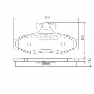 NIPPARTS J3610901 Комплект тормозных колодок