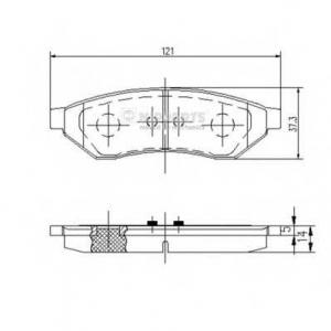 NIPPARTS J3610902 Комплект тормозных колодок
