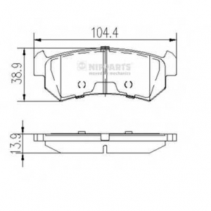NIPPARTS J3610903 Комплект тормозных колодок