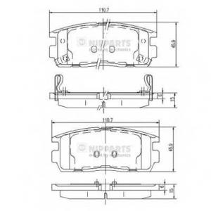 NIPPARTS J3610905 Комплект тормозных колодок