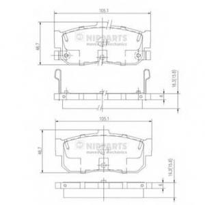 NIPPARTS J3611034 Комплект тормозных колодок