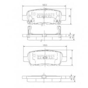 NIPPARTS J3611044 Комплект тормозных колодок