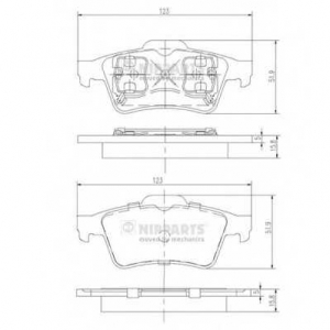 NIPPARTS J3611045 Комплект тормозных колодок