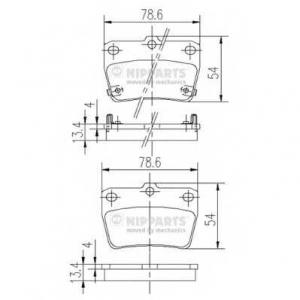 NIPPARTS J3612020 Комплект тормозных колодок