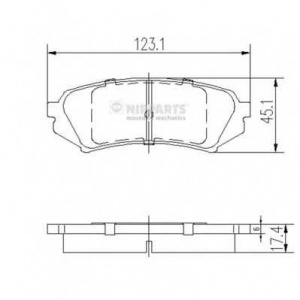 NIPPARTS J3612022 Комплект тормозных колодок