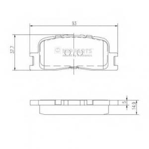NIPPARTS J3612024 Комплект тормозных колодок