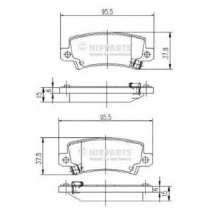NIPPARTS J3612025 Комплект тормозных колодок