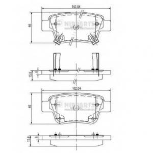 NIPPARTS J3612030 Комплект тормозных колодок