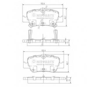 NIPPARTS J3612033 Комплект тормозных колодок