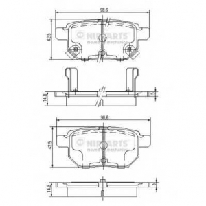 NIPPARTS J3612034 Комплект тормозных колодок