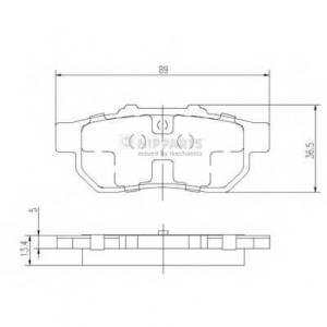 NIPPARTS J3614007 Комплект тормозных колодок