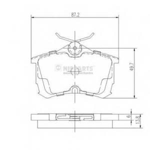 NIPPARTS J3614015 Комплект тормозных колодок