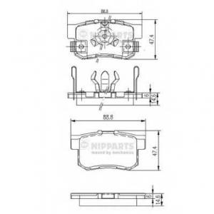 NIPPARTS J3614017 Комплект тормозных колодок