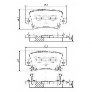 NIPPARTS J3614018 Комплект тормозных колодок