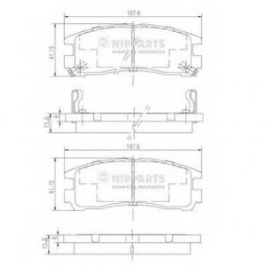 NIPPARTS J3615003 Комплект тормозных колодок