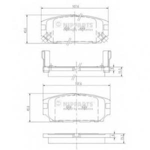 NIPPARTS J3615007 Комплект тормозных колодок