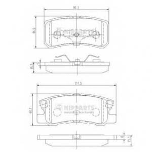 NIPPARTS J3615010 Комплект тормозных колодок