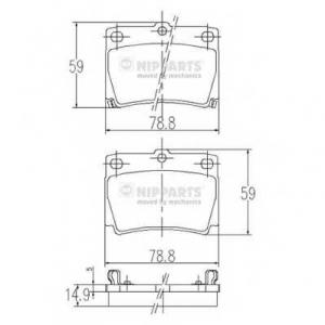 NIPPARTS J3615011 Комплект тормозных колодок