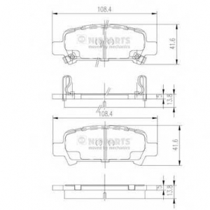 NIPPARTS J3617002 Комплект тормозных колодок