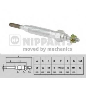 NIPPARTS J5715000 Свічка розжарювання