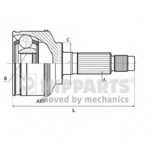 NIPPARTS N2821048 Шарнiр приводного вала