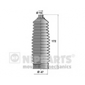 NIPPARTS N2840514 Пыльник рулевой рейки hyundai i20 08-