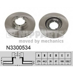 NIPPARTS N3300534 Тормозной диск